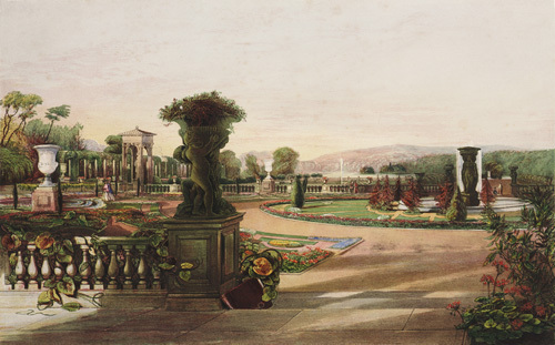 The Parterre, Trentham Hall Gardens by Edward Adveno Brooke
