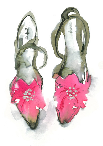 Pink Shoes by Bridget Davies