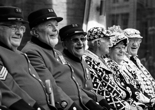 London laughter, Chelsea Pensioners and Pearlies by Niki Gorick
