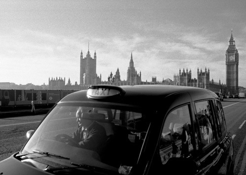 Westminster Bridge cabby by Niki Gorick