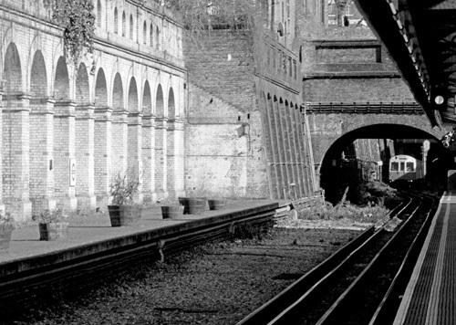 Tube train to South Kensington by Niki Gorick
