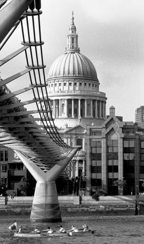 Boating Past St Paul S Cathedral Art Print By Niki Gorick