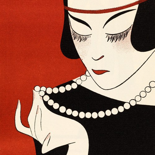 Cecla Pearls (detail) by Gazette du Bon Ton