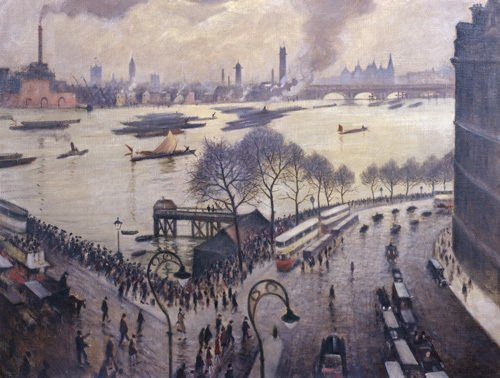 Blackfriars Bridge, London by C.R.W. Nevinson