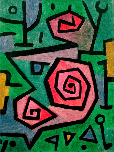 Heroic Roses 1938 Art Print By Paul Klee King Amp Mcgaw