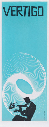 Vertigo (small blue) by Saul Bass