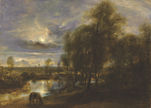 Landscape by moonlight by Peter Paul Rubens