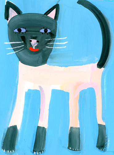 Siamese Cat Art Print By Christopher Corr At King Amp Mcgaw