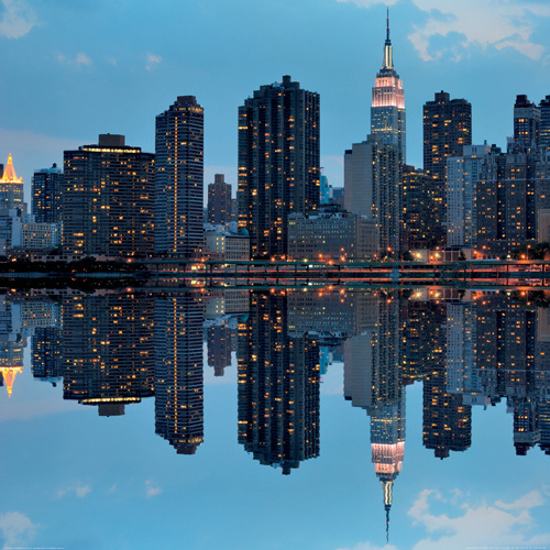 Manhattan Reflection by Sean Pavone