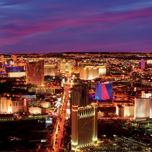Las Vegas Strip at Night by Tony Strong
