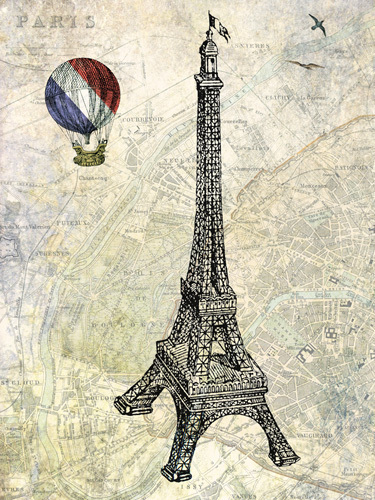Eiffel Map by Marion McConaghie