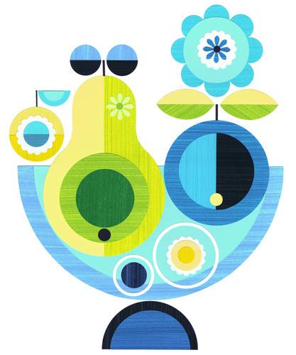 Blue Apple by Ellen Giggenbach