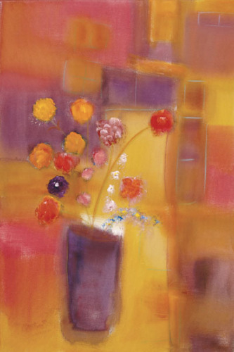 Welcoming Flowers I by Nancy Ortenstone