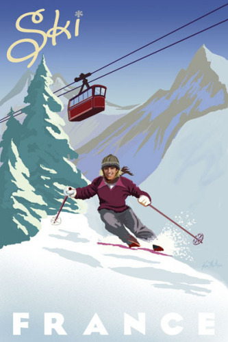 Ski France by Kem McNair