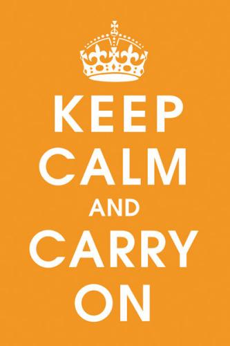 Keep Calm (orange) by Vintage Repro