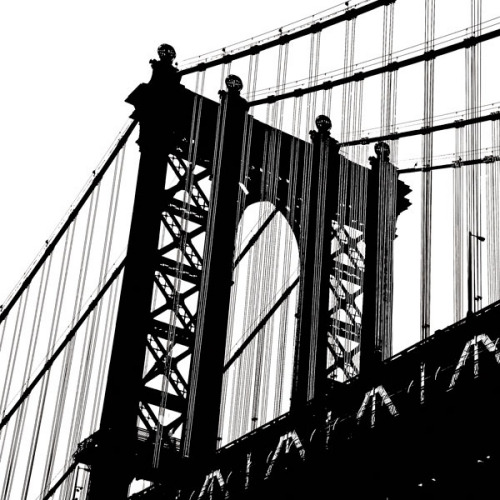 Manhattan Bridge Silhouette (detail) by Erin Clark