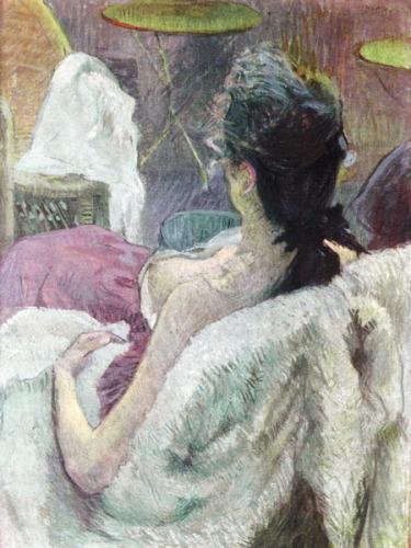 Resting Model by Henri de Toulouse-Lautrec