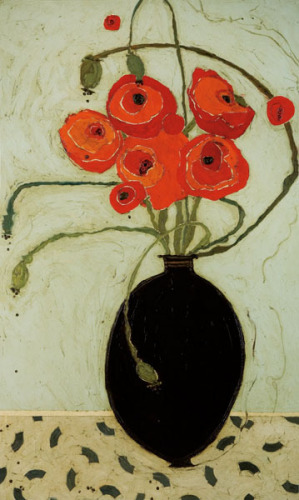 Swirling Poppies by Karen Tusinski