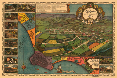 Los Angeles 1871 by Vintage Reproduction