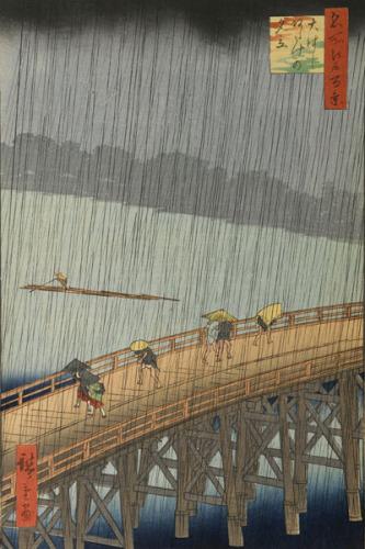 Sudden Shower by Utagawa Hiroshige