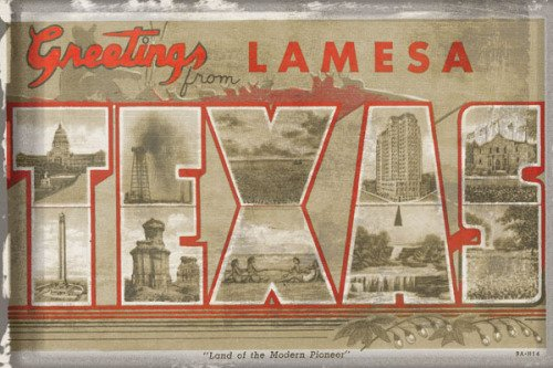 Texas Greetings by Vintage Vacation