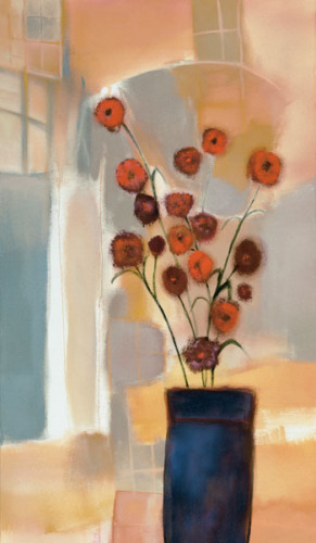 Flowers in the Archway by Nancy Ortenstone