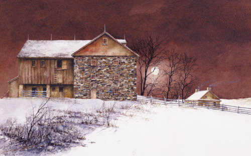 Evening at Knabb Farm by Bradley Hendershot
