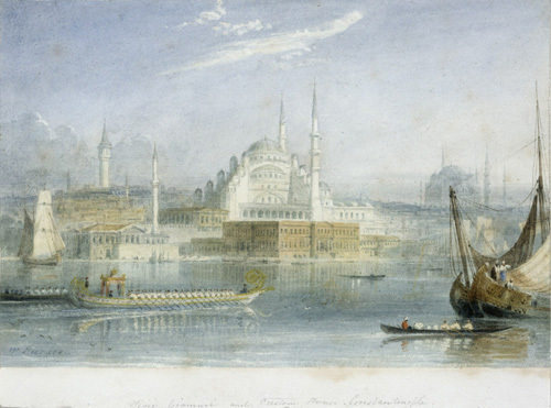 Yeni Giammi and Customs House, Constantinople by William Purser