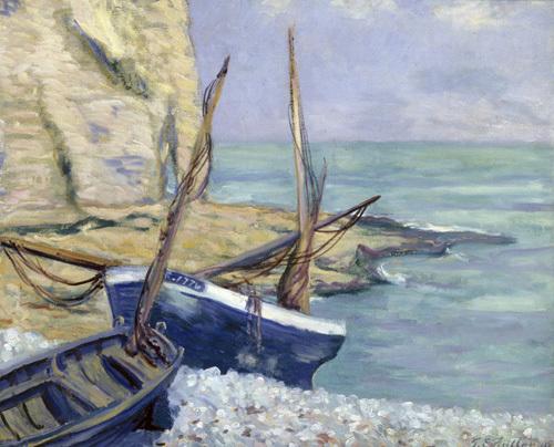 Bateaux a Etretat, 1909 by Theodore Earl Butler
