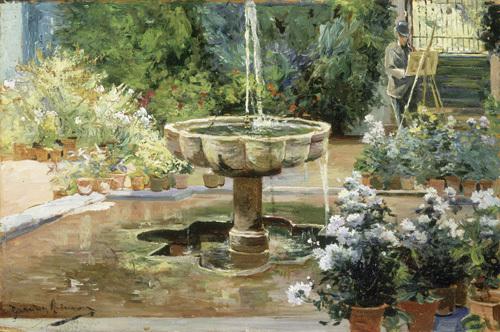 Fuente Arabe - Jardines del Alcazar Sevilla by Manuel Garcia y Rodriguez