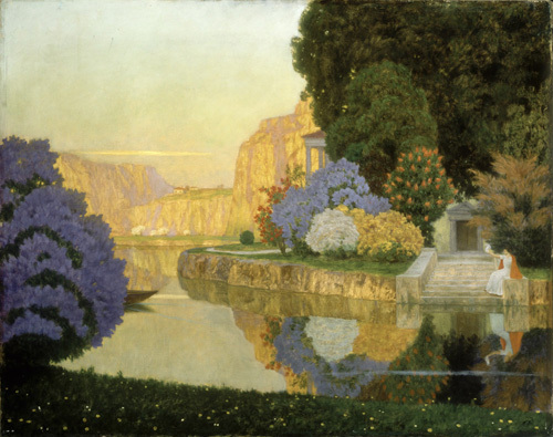 A Lady by a Lake by Edouard Kasparides