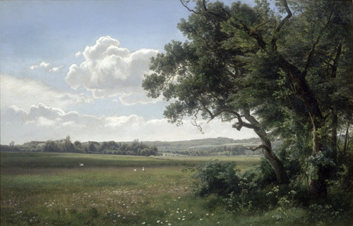 Landscape with Storks, 1879 by Janus la Cour