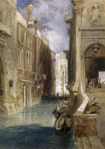 A Canal in Venice by Jacob-Philippe Hackert