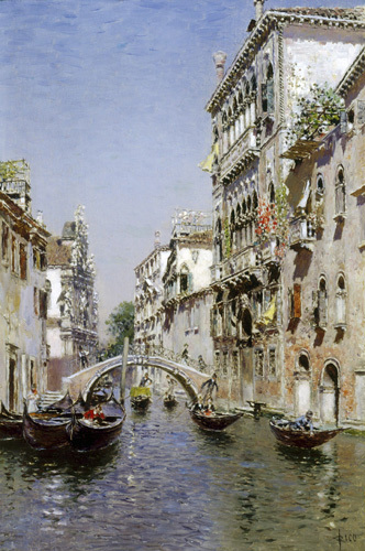 The Sunny Canal by Martin Rico Y Ortega
