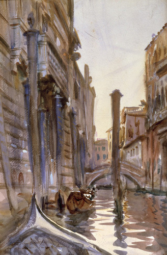 Side Canal In Venice, 1902 by John Singer Sargent