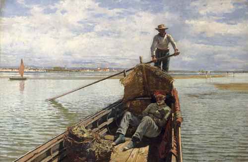 Venetian Fishermen, 1882 by William Henry Bartlett