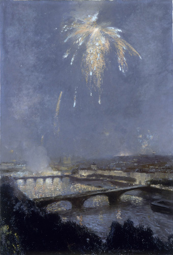 Feu d'Artifice sur Paris by Gaston La Touche