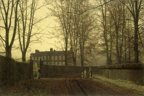 The Lane in Autumn, 1880 by John Atkinson Grimshaw