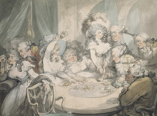 A Gaming Table at Devonshire House, London by Thomas Rowlandson