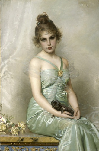 The Wounded Puppy, 1899 by Vittorio Matteo Corcos