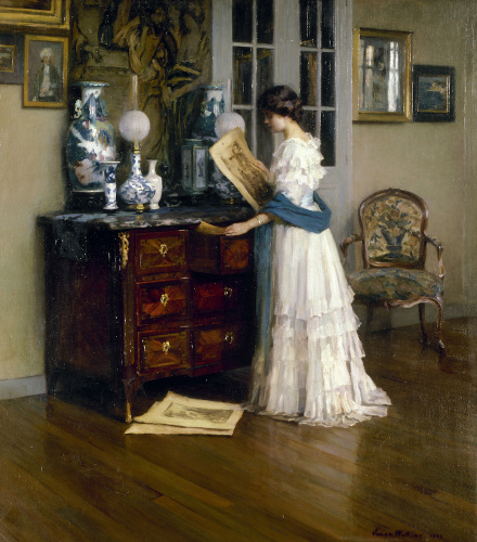 The White Dress by Ernest-Joseph Laurent