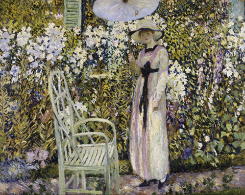 White Lilies by Frederick Carl Frieseke