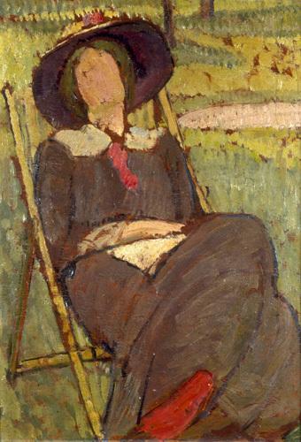 Virginia Woolf In A Deckchair 1912 Art Print By Vanessa