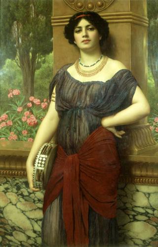 The Tambourine Girl 1909 by John William Godward