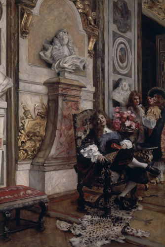 Moliere Demanding an Audience with King Louis XIV at Versailles by Francois Flameng