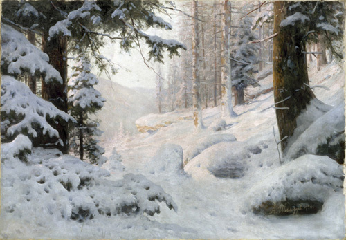 Woodland Valley under Snow, 1904 by Andrei Nikolaevich Schilder