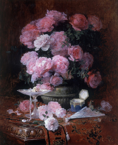 Bouquet of Flowers with Elegant Objects, 1899 by F Baudoin