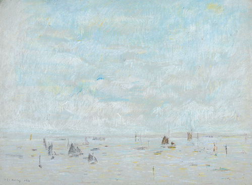 Yachts, 1920 by L S Lowry