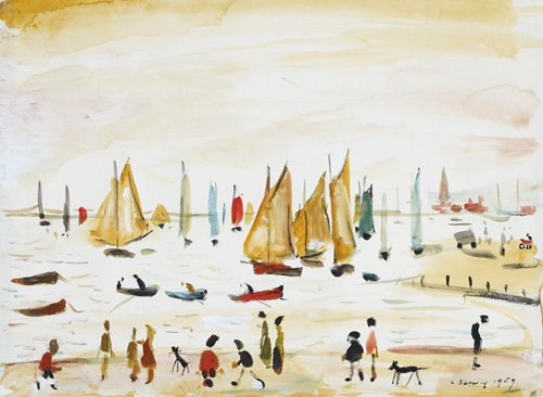 Yachts, 1959 by L S Lowry