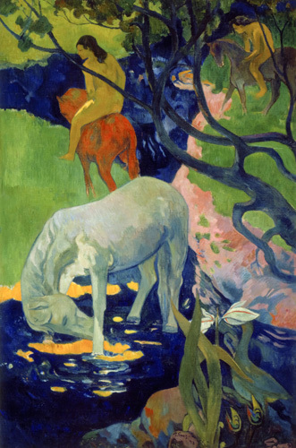 Le Cheval Blanc 1899 Art Print By Paul Gauguin King Amp Mcgaw